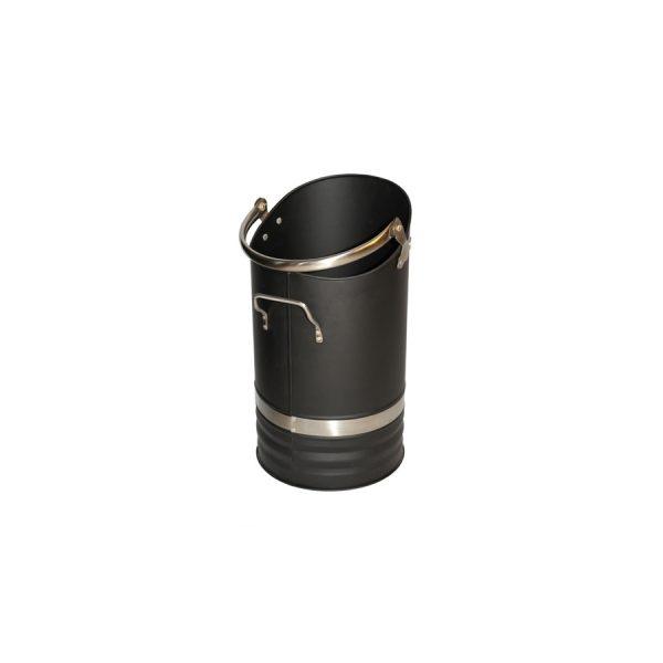 Coal Bucket Black with SS Handles