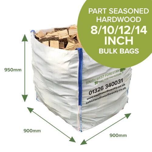 Bulk Bags of Part Seasoned Hardwood