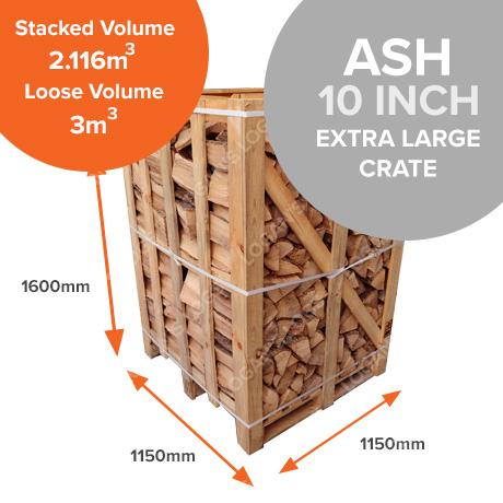 Kiln Dried Ash in Crates