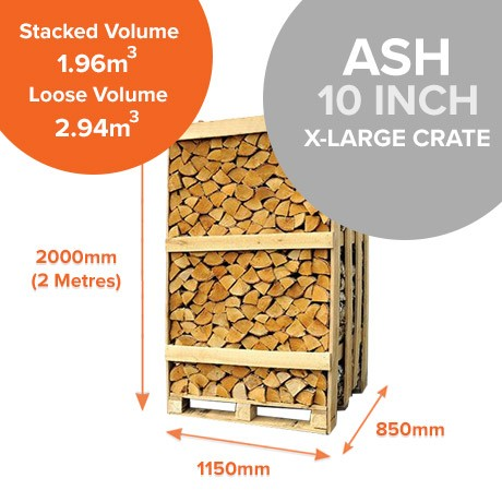 Kiln Dried Ash in X-Large Crates