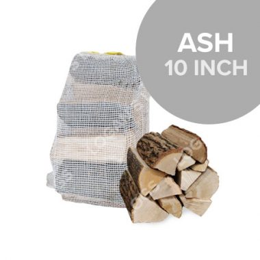 Kiln dried Ash Hardwood Logs in Nets