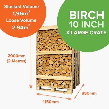 Kiln Dried Birch in Full Crates