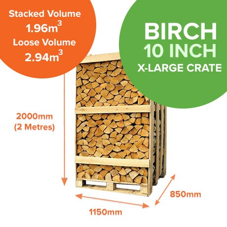 Kiln Dried Birch in X-Large Crates