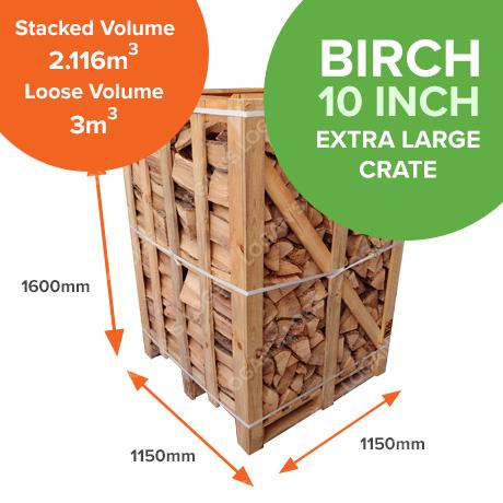 Kiln Dried Birch in Crates