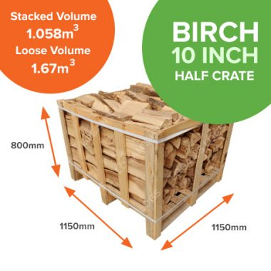 Kiln Dried Birch in Crates