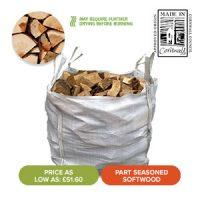 Summer Sale - Bulk Bags of Part Seasoned Softwood