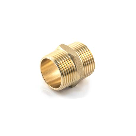 Brass Threaded Hexagon Nipple Brass