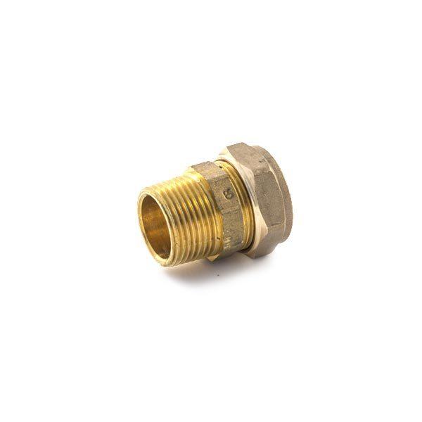 DZR Compression Straight Adaptor 15mm