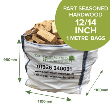 1 Cubic Metre Bags - Part Seasoned Hardwood