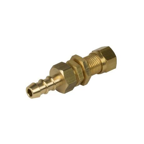 10mm Bulkhead Compression x Fulham Hose Nozzle
