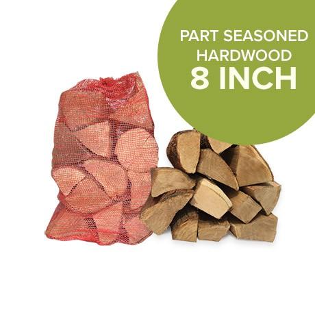 Part Seasoned Hardwood - Netted Logs