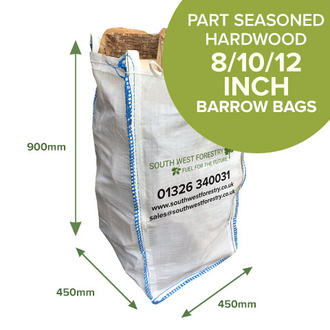 Barrow Bags of Part Seasoned Hardwood