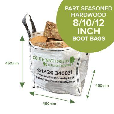 Boot Bags of Part seasoned Hardwood