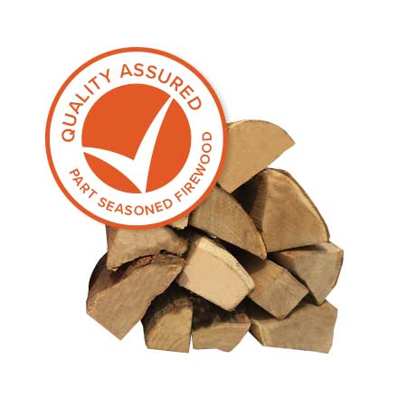 Quality Assured Part Seasoned Hardwood Logs