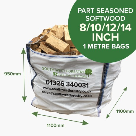 1 Cubic Metre of Part Seasoned Softwood
