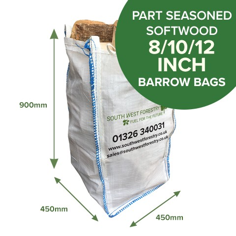 Barrow Bags of Part Seasoned Softwood
