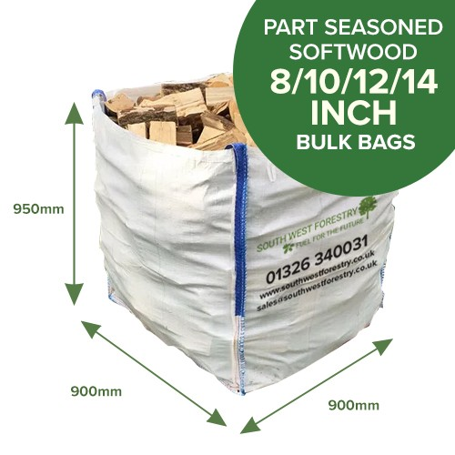 Bulk Bags of Part Seasoned Softwood