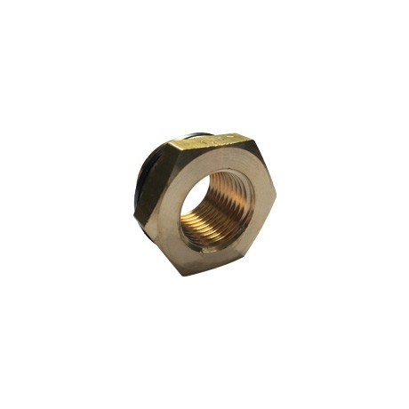"Brass Threaded Hexagon Reducer 3/4"" BSPP M x 1/2"" BSPP F"