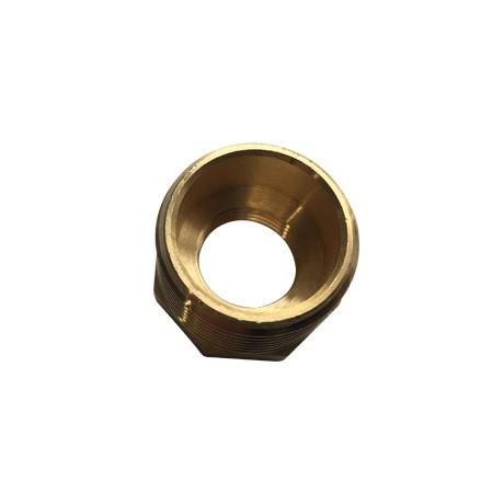 """Brass Threaded Hexagon Reducer Bush 1"""" - Inner"""