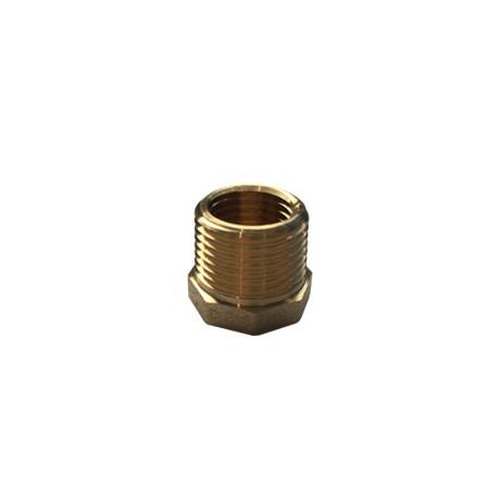 Brass Threaded Hexagon-Reducer Bush 3-8 BSP-= M-x-1-4-BSP-F
