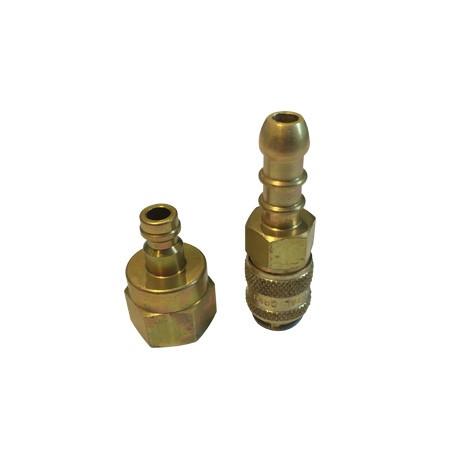 Cadac Brass Quick Release Hose Nozzle - Open
