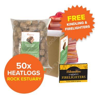 Special Offer - 50x Bags of Rock Estuary Heatlogs