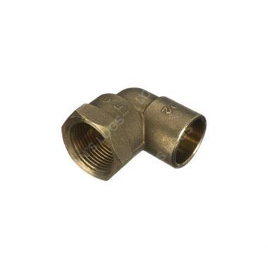 "Brass Solder Ring 15mm - 1/2"" Female Elbow"