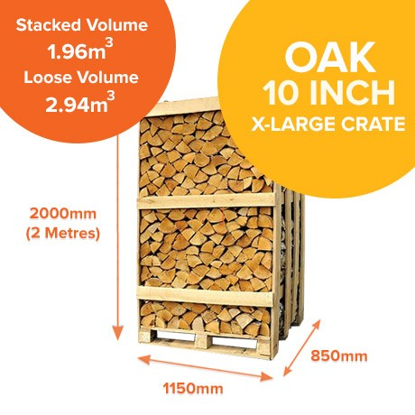 Kiln Dried Oak in X-Large Crates