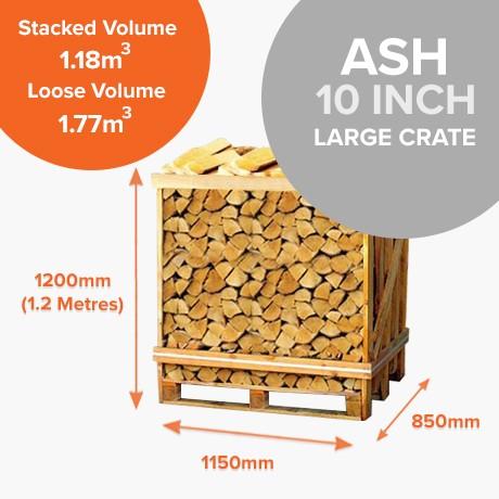 Kiln Dried Ash in Half Crates