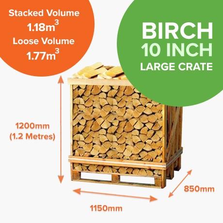 Kiln Dried Birch in Half Crates