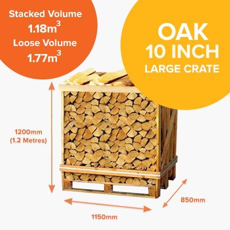 Kiln Dried Oak - Half Crates
