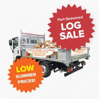 Summer Sale - Part Seasoned Hardwood - Loose Load