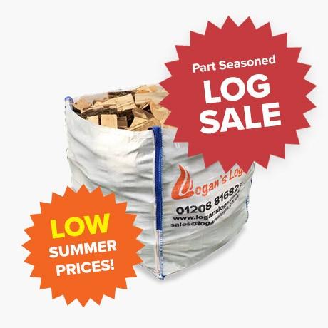 Summer Sale - Part Seasoned Softwood - Bulk Bags