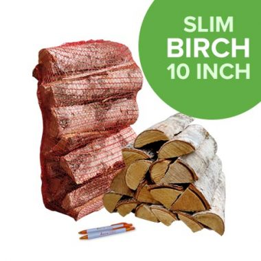 Thin Birch logs in Nets